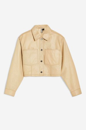 Cropped Western Leather Jacket | Topshop