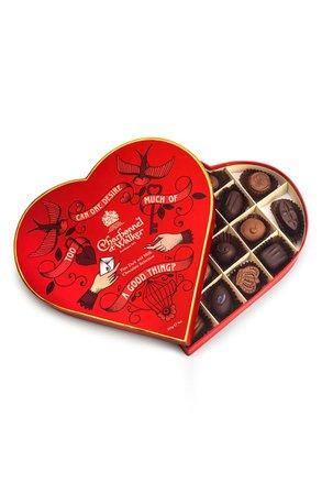 Charbonnel et Walker Milk & Dark Chocolates in Heart Gift Box | Nordstrom