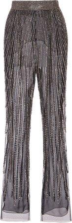 Alberta Ferretti Embellished Tulle Pants