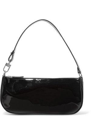 BY FAR | Rachel patent-leather shoulder bag | NET-A-PORTER.COM