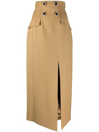 Shop David Koma high-waisted pencil skirt with Express Delivery - Farfetch