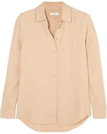 Essential Crepe Shirt - Beige