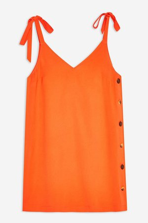 Button Mini Slip Dress | Topshop orange