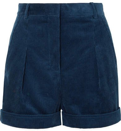 Cotton-corduroy Shorts - Blue