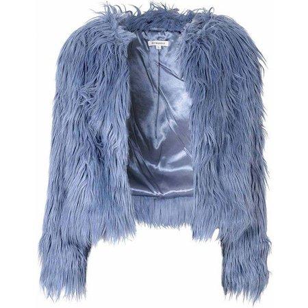 blue faux fur jacket - Google Search