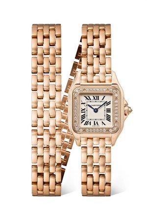 Cartier | Panthère de Cartier 22mm small 18-karat pink gold and diamond watch | NET-A-PORTER.COM