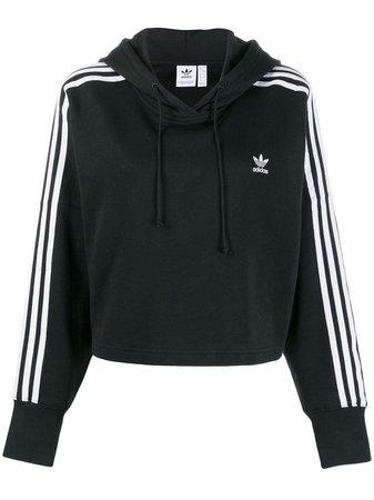 Black Adidas Originals Trefoil Hoodie | Farfetch.com