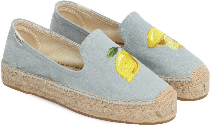 Lemon Espadrille Flat