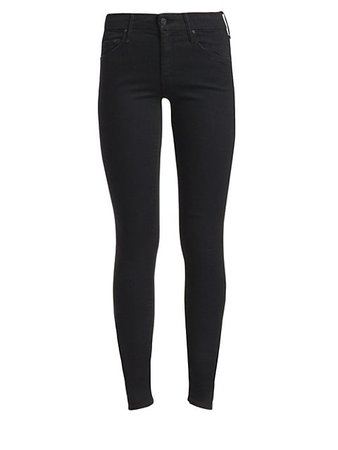 Mid-Rise   Skinny Jeans   Black