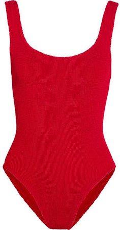 Hunza G - Seersucker Swimsuit - Red