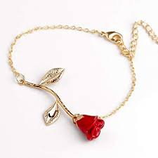 beauty and the beast rose bracelet - Google Search