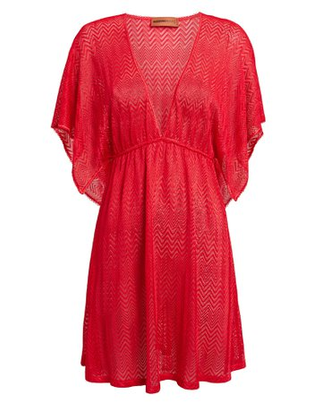 Coral Cover-Up Dress