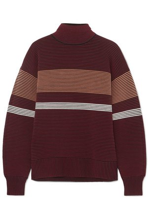 Nagnata | Striped ribbed-knit organic cotton turtleneck sweater | NET-A-PORTER.COM