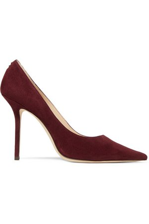 Jimmy Choo | Love 100 suede pumps | NET-A-PORTER.COM