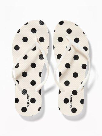 Patterned Flip-Flops for Women   Old Navy