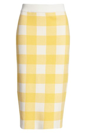 English Factory Gingham Check Pencil Skirt   Nordstrom