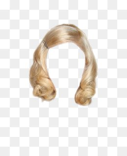Golden Hair Wig Hair Clip Free Matting, Golden, Long Hair, Wig PNG Image and Clipart for Free Download