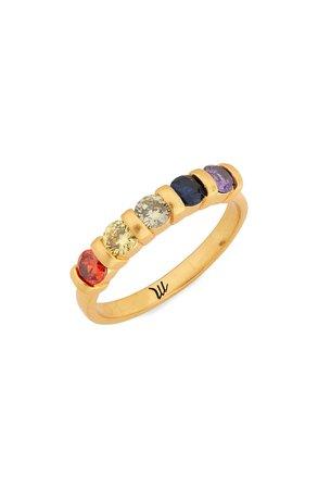 Madewell Rainbow Cubic Zirconia Ring | Nordstrom