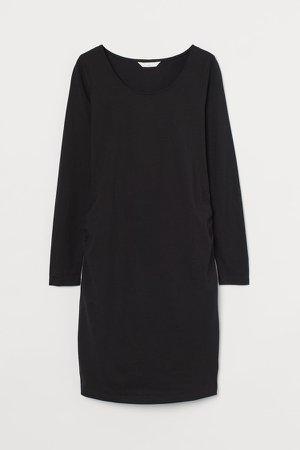 MAMA Cotton Jersey Dress - Black