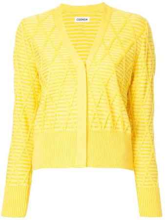 COOHEM Argyle Knit Cardigan - Farfetch