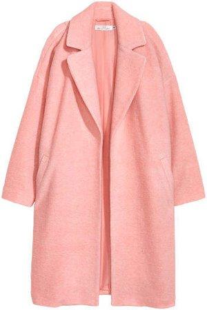 Wool-blend Coat - Pink