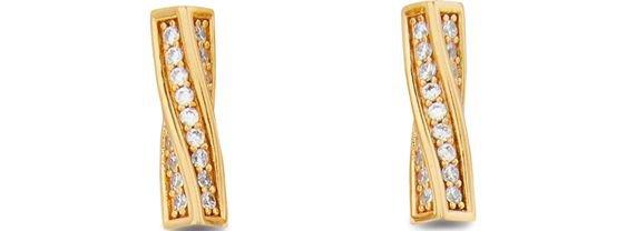 CELINE edwige brass earrings