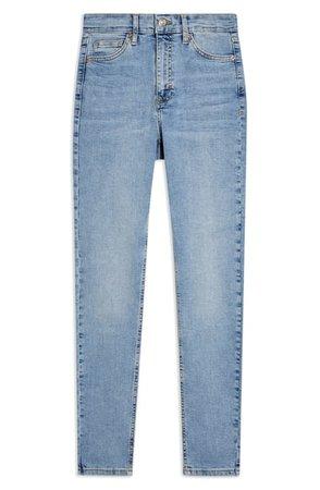 Topshop Mykonos Jamie High Waist Skinny Jeans (Bleach) | Nordstrom