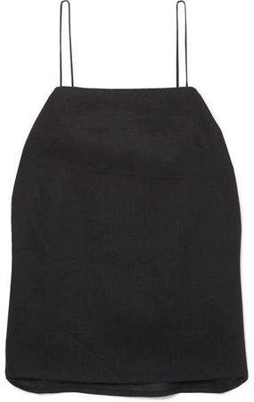MATIN - Linen Camisole - Black