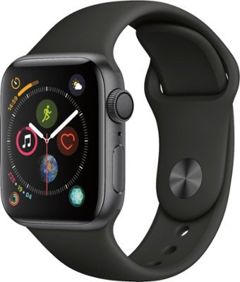 Apple Apple Watch Series 4 (GPS) 40mm Space Gray Aluminum Case with Black Sport Band Space Gray Aluminum MU662LL/A - Best Buy