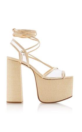 Diana Platform Wrap-Tie Heels by Cult Gaia   Moda Operandi