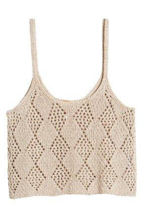 Free People Crochet Crop Tank Top | Nordstrom