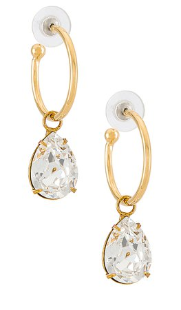Jennifer Behr Jane Gemstone Hoops in Diamond | REVOLVE