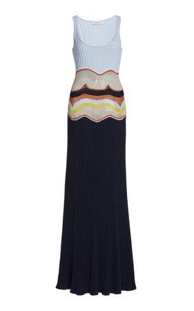 Gabriela Hearst, Sainz Cashmere-Silk Knit Maxi Dress