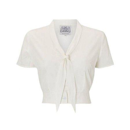 White bow top