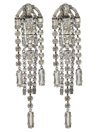 Lanvin Lanvin Crystal-embellished Earrings - Silver - 10930657 | italist