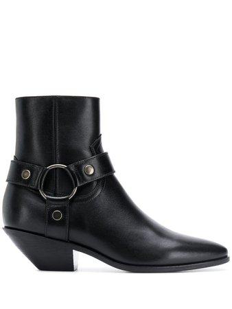 Saint Laurent West Harness Ankle Boots - Farfetch
