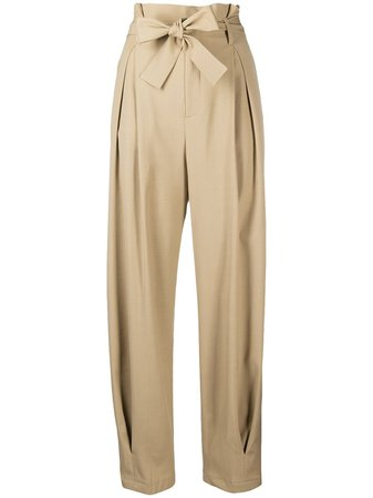 RedValentino Paperbag Tapered Trousers - Farfetch