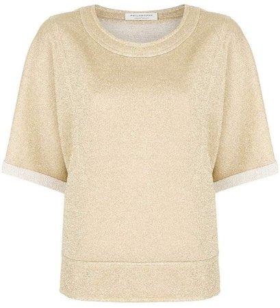 lurex half sleeve sweatshirt