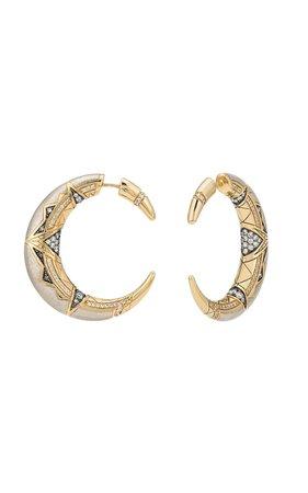 Gold Oryx Earrings by Venyx | Moda Operandi
