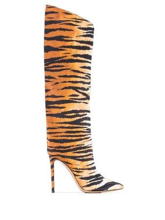 Alexandre Vauthier Alex Tiger knee-high Boots - Farfetch
