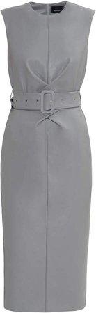 Anouki Sleeveless Pencil Dress With Cross Waistline