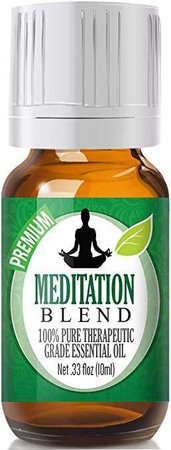Amazon.com: Meditation Blend 100% Pure, Best Therapeutic Grade Essential Oil - 10ml - Ylang Ylang, Patchouli, Frankincense, Clary Sage, Sweet Orange, Thyme, French Lavender: Health & Personal Care