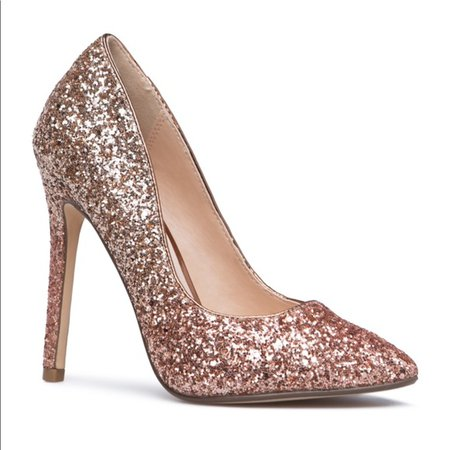 ShoeDazzle Shoes | Rose Gold Ombr Heels | Poshmark