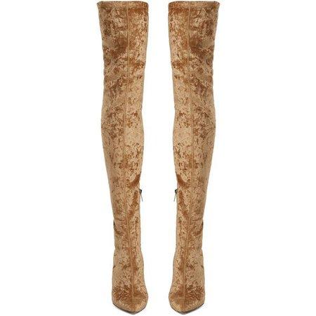 Jimmy Choo Lorraine velvet over-the-knee boots ($1,329)