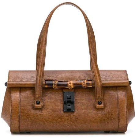 Bamboo line flap shoulder bag