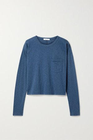 rag & bone | Cropped slub Pima cotton-jersey top | NET-A-PORTER.COM