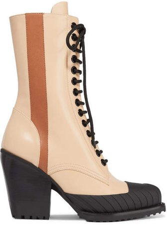 Rylee Glossed-leather Ankle Boots - Brown