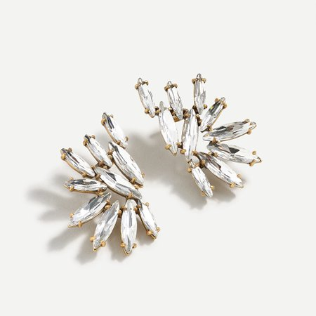 J.Crew: Crystal Wing Climber Earrings For Women