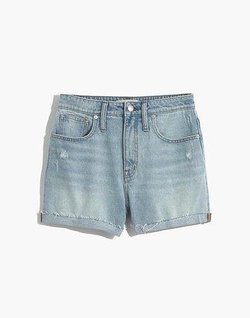 Curvy High-Rise Denim Shorts in Cantrell Wash: TENCEL™ Lyocell Edition