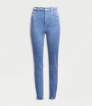 Petite High Waist Skinny Corduroy Pants